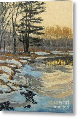 The Thawing Pond - Hudson Valley Metal Print by Gregory Arnett