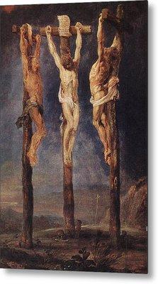 The Three Crosses Metal Print by Peter Paul Rubens