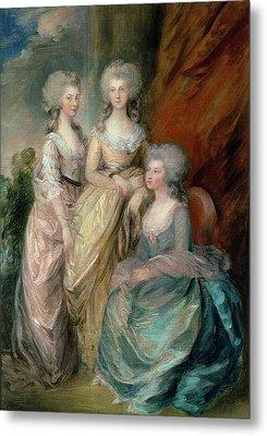The Three Eldest Daughters Of George Metal Print by Thomas Gainsborough