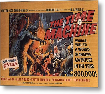 The Time Machine  Metal Print by Movie Poster Prints