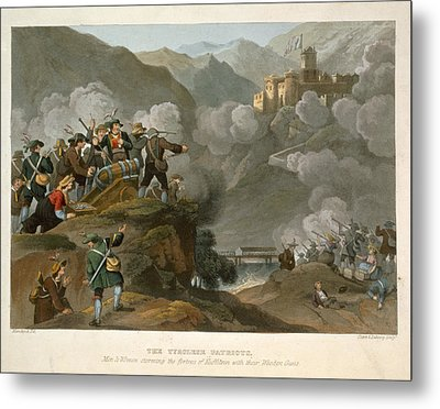 The Tirolese Patriots Storming Metal Print by Franz Joseph Manskirch