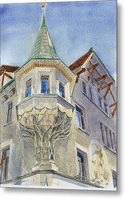 The Tower At Conditorei Central Metal Print by David Gilmore