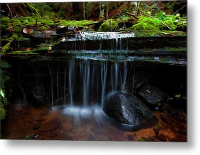 Metal Print featuring the digital art The Trickling Brook by Timothy Hack