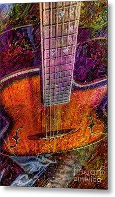 The Tuning Of Color Digital Guitar Art By Steven Langston Metal Print by Steven Lebron Langston