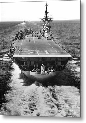 The U.s. Aircraft Carrier Uss Boxer Metal Print by Stocktrek Images