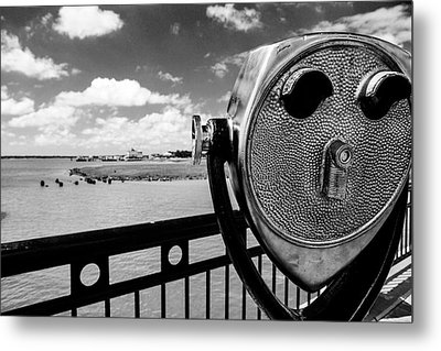 Metal Print featuring the photograph The Viewer by Sennie Pierson