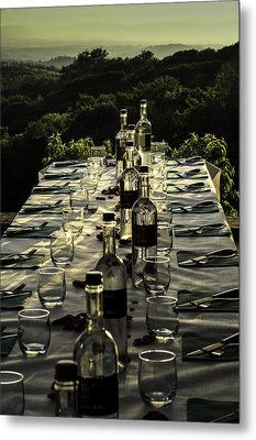 The Vintner's Table Metal Print