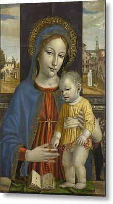 The Virgin And Child Metal Print by Ambrogio Bergognone