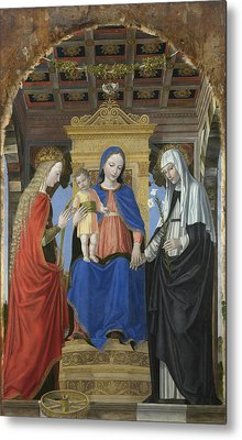 The Virgin And Child With Saints Metal Print by Ambrogio Bergognone