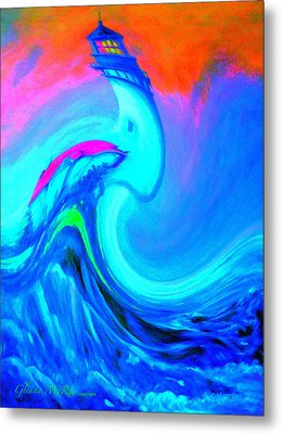 The Vision Of Blue Metal Print by Glenna McRae