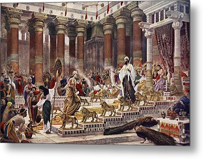 The Visit Of The Queen Of Sheba To King Metal Print by Sir Edward John Poynter