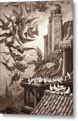 The Vultures And The Pigeons Metal Print by Litz Collection