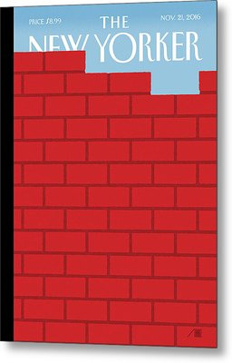 The Wall Metal Print by Bob Staake