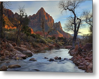 The Watchman In Winter-2 Metal Print by Alan Vance Ley