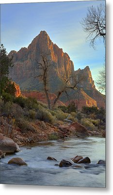 The Watchman In Winter-3 Metal Print by Alan Vance Ley
