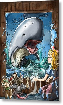 Metal Print featuring the painting The Whale by Reynold Jay