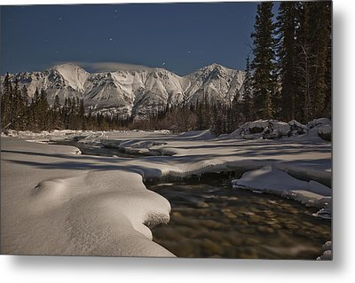 The Wheaton River Valley Lit By The Metal Print by Robert Postma