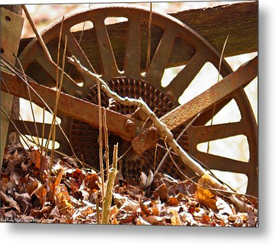Metal Print featuring the photograph The Wheel Of Planting by Nick Kirby