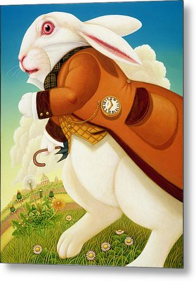 The White Rabbit, 2003 Metal Print by Frances Broomfield