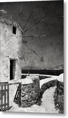 The Windmills Of Mykonos 3 Metal Print