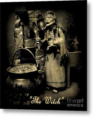 The Witch Metal Print by John Malone