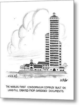 The World's First Condiminium Complex Built Metal Print by Warren Miller