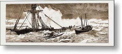 The Wreck Of The Indian Chief The Ramsgate Lifeboat Metal Print by Litz Collection