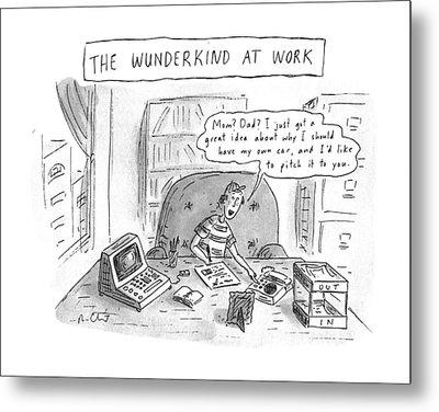 The Wunderkind At Work Metal Print
