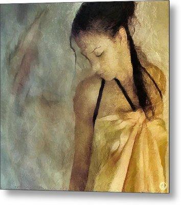 The Yellow Dress Metal Print by Gun Legler
