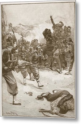 The Zouaves Took One Of The Barricades Metal Print by Ernest Prater