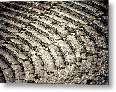 Theatre At Epidaurus Metal Print by Gabriela Insuratelu