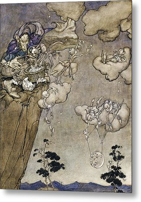 They Were Ruled By An Old Squaw Spirit Metal Print by Arthur Rackham
