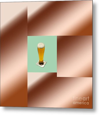Third Beer On The Wall Metal Print by Tina M Wenger