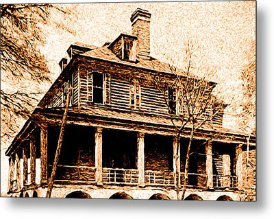 Metal Print featuring the digital art This Old House by Chuck Mountain