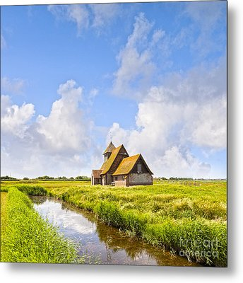 Thomas A Becket Church Romney Marsh Metal Print by Colin and Linda McKie