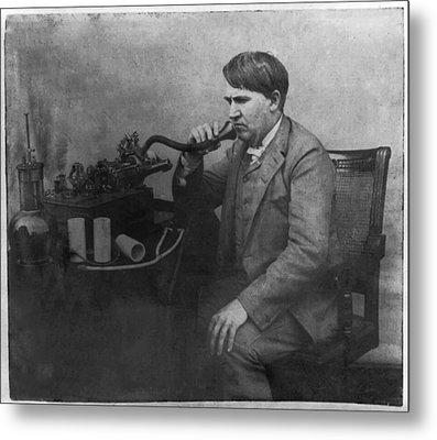 Thomas Alva Edison 1892 Metal Print by Bill Cannon