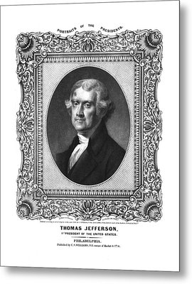 Thomas Jefferson Metal Print by Aged Pixel