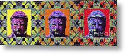 Three Buddhas 20130130 Metal Print by Wingsdomain Art and Photography