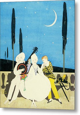 Three Characters Wears Pierrot Metal Print