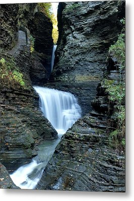 Three Falls In Watkins Glen Metal Print by Joshua House