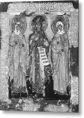 Three Female Saints Metal Print