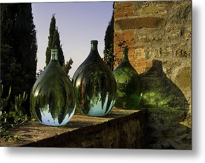 Three Flagons Metal Print