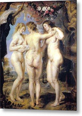 Three Graces Metal Print by Peter Paul Rubens