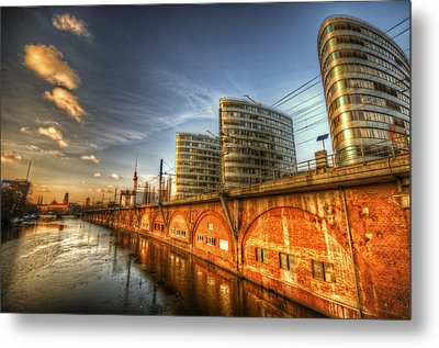 Three Towers Berlin Metal Print by Nathan Wright