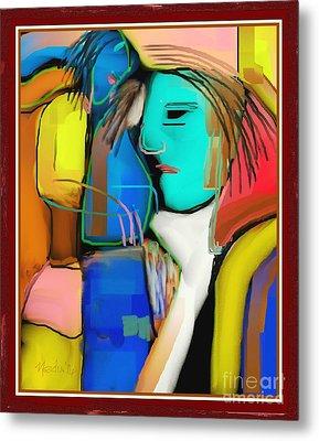 Three Women Conversing Metal Print by Nedunseralathan R