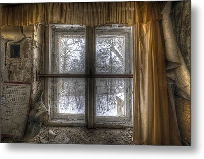 Through The Dirty Window Metal Print by Nathan Wright