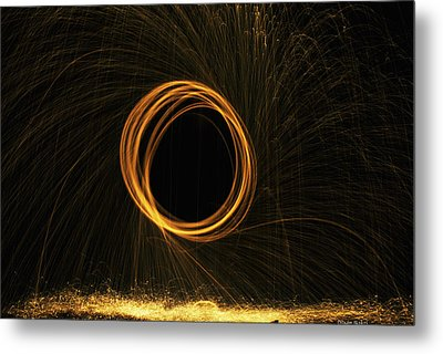 Through The Fire And Flames Metal Print