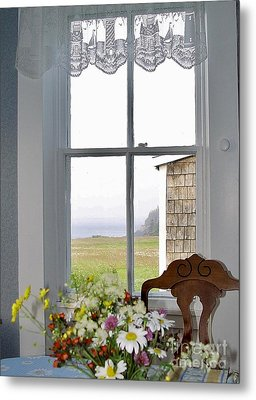 Through The Window Metal Print by Christopher Mace