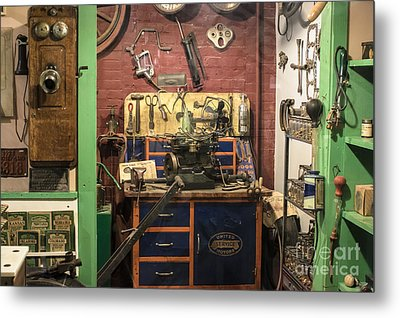 Garage Of Yesteryear Metal Print by Imagery by Charly