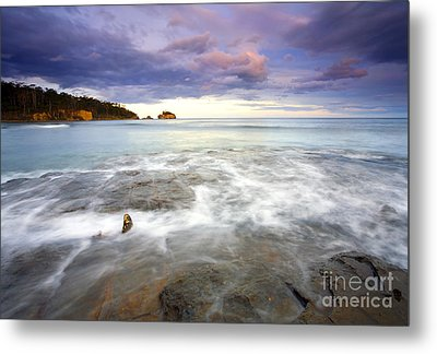 Tide Covered Pavement Metal Print by Mike  Dawson